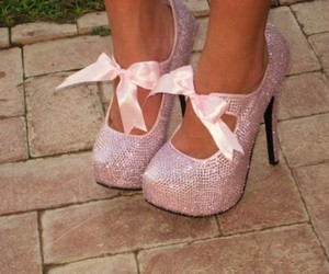 fancy, bow heels, and girly image