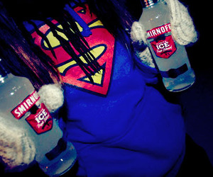superman, smirnoff, and alcohol image