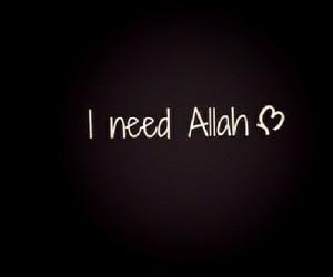 allah, muslim, and need image