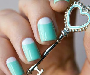 nails, key, and blue image
