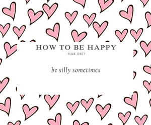 hearts, silly, and how to be happy image