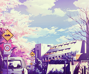 anime, japan, and sakura image