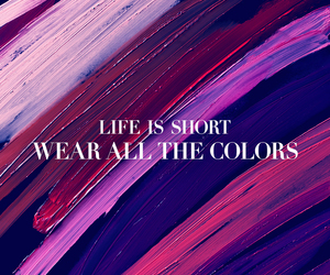 colors, words, and life image
