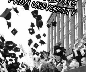 college, education, and graduation image