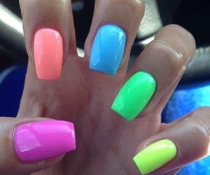 nails, colors, and neon image