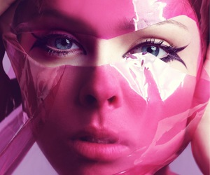 model, pink, and Coco Rocha image