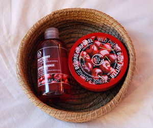 cherry, the body shop, and red image