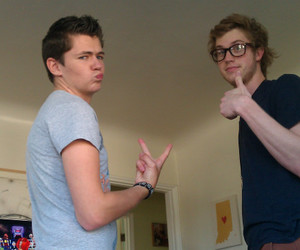 damian mcginty, cameron mitchell, and the glee project image
