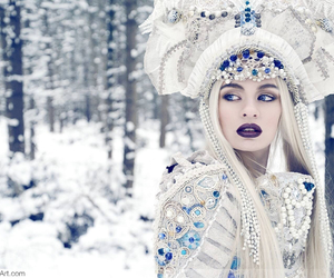 enchanted, fashion, and snow queen image