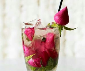 drink, cocktail, and rose image