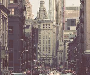 city, cars, and hipster image