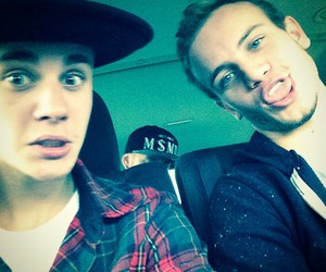 justin bieber, ryan butler, and friends image