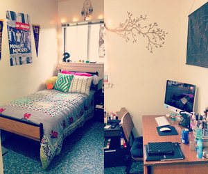 bedroom, college, and design image