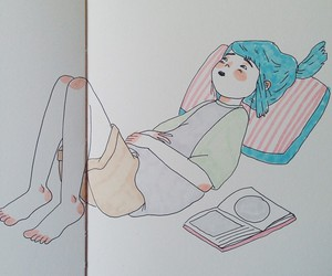 girl, cute, and draw image