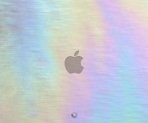 apple, grunge, and holographic image