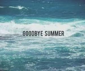 summer, goodbye, and sea image