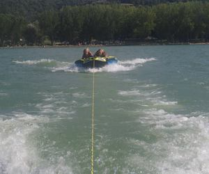 summer, water, and tubing image