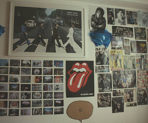 wall, poster, and the beatles image