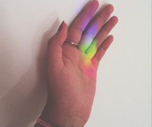 colors, rainbow, and grunge image