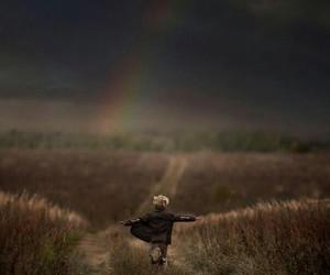 rainbow, child, and boy image