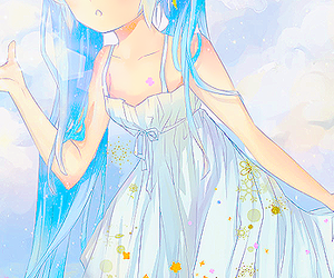 anime and blue hair image