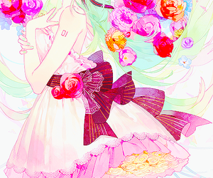 flowers and vocaloid image