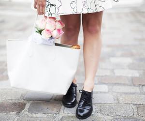 blog, fashion, and flowers image