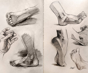 beautiful, draw, and feet image