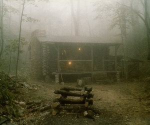 atmosphere, house, and woods image