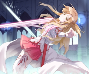 sao, asuna, and sword art online image