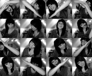 black and white, girl, and heart image
