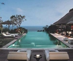 pool, luxury, and summer image