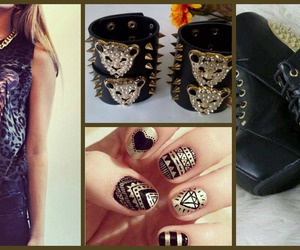 girl, nails, and negro image