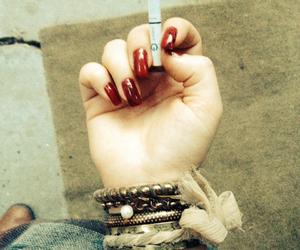 bracelet, cigarette, and nails image