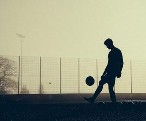 boy, ball, and football image