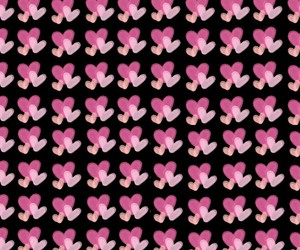 background, hearts, and patterns image