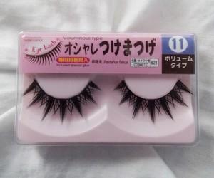 eyelashes, japanese, and pink image