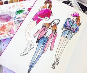 art, clothes, and drawings image