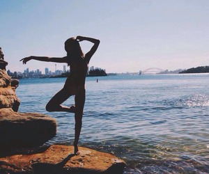 ballet, sky, and beach image
