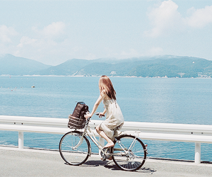 bicycle, blue, and japan image