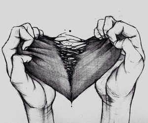 heart, sad, and why image