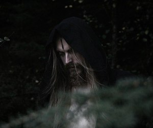 beard, long hair, and forest image