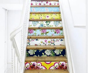 stairs, flowers, and home image