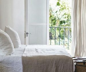 bedroom, white, and green image
