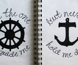 anchor, tattoo, and text image