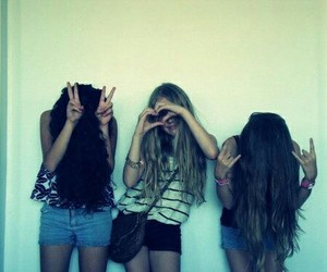 girl, cute, and friends image