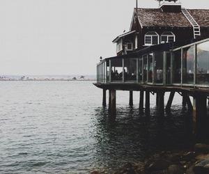 sea, house, and vintage image
