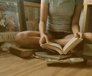 girl, read, and love image