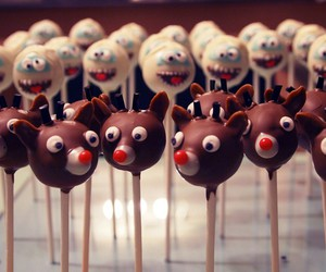 abominable snowman, cake pops, and yummy image