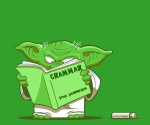 yoda, grammar, and star wars image